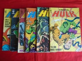 O Incrível Hulk - Nºs 46, 47, 48, 49, 50, 51 / Frete: 10,00