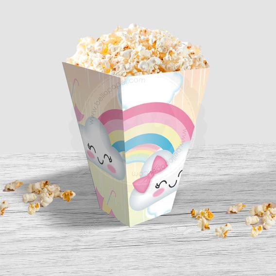 Caja Popcorn Imprimible Lluvia De Amor , Pochoclos, Pdf