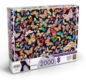 Puzzle 2000 Peças Borboletas Grow