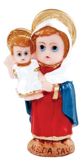 30 Imagem Nossa Senhora Da Saúde Infantil Em Resina 8cm