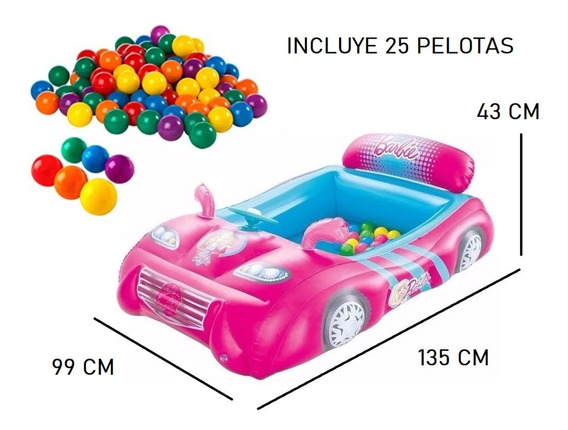 Pelotero Inflable Barbie + 25 Pelotas Baby Shopping Cuotas