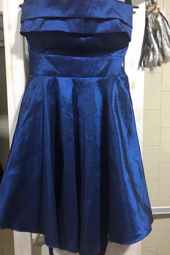 Vestido Straples Azul