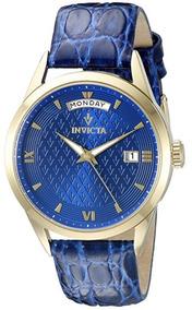 Invicta Vintage 21528 Azul Couro Genuíno 12x S/ Juros