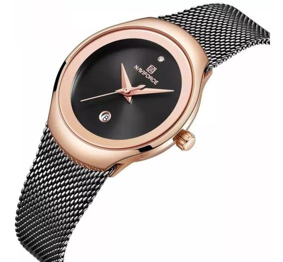 Relógio Feminino Naviforce Luxo Super Slim Prova D