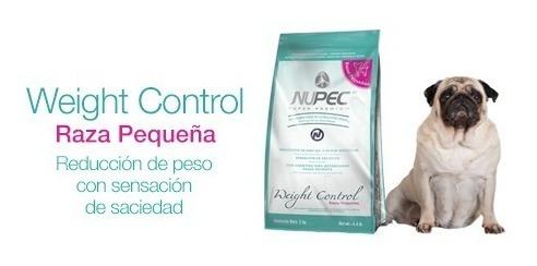 Alimento Perro Control Peso Razas Pequeñas 2kg Nupec +