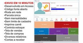 Sistema De Vendas Controle De Estoque + Código Fonte(access)