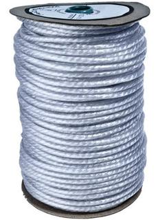 Cuerda Soga Cabo 6.mm Polietileno Forrado Pvc - Rollo X 100m - Material Virgen De Alta Tenacidad Resistente Sol Y Lluvia