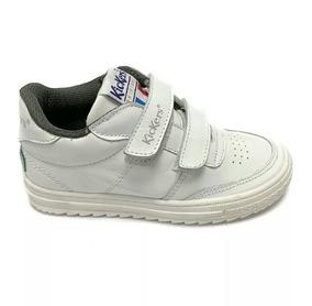 Zapatos Kickers Deportivos Escolares Blancos