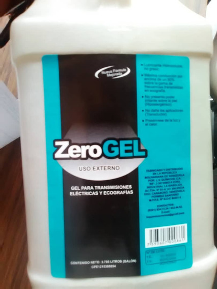 Gel Para Ultrasonido Zerogel Por Galon