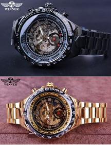 Relógio Winner Luxo Automático Corda Pronta Entrega Original
