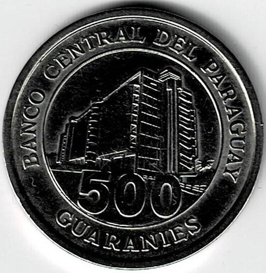 Moneda De Paraguay 500 Guaraníes 2006 Excelente +++++