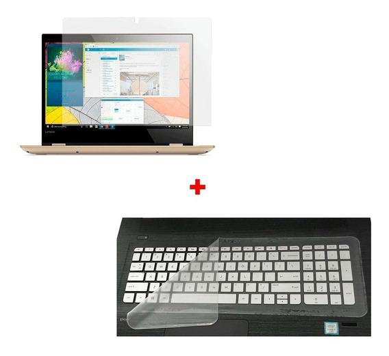 Pelicula Tela Led Lcd 15.6 Notebook Anti Reflexo Fosca + Pelicula Protetora De Silicone Teclado