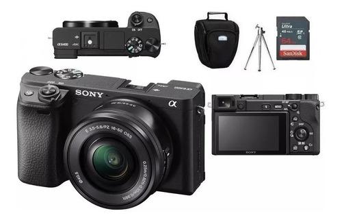 Sony A6400 16-50mm Oss + Bolsa + Tripé + Cartão 64gb Nf