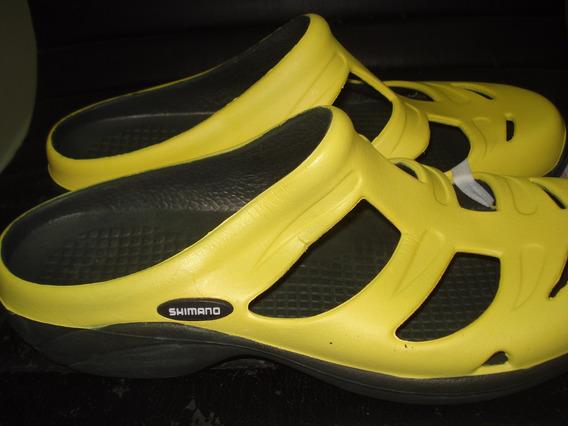 Sandalias Zapatos De Playa Shimano Evair Talla 12 Amarillas