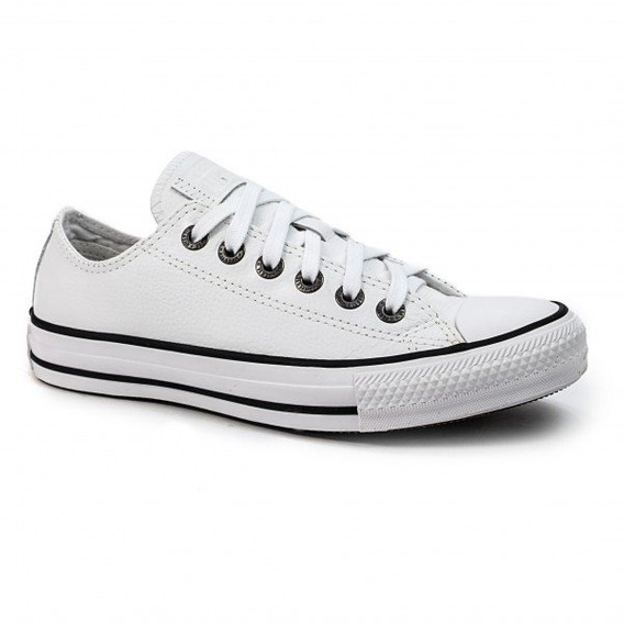 Tênis Converse All Star De Couro Branco Casual Ct04480001