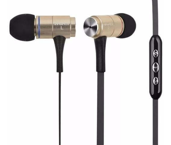 Fone De Ouvido Awei S2vi Super Bass C/ Controle E Microfone