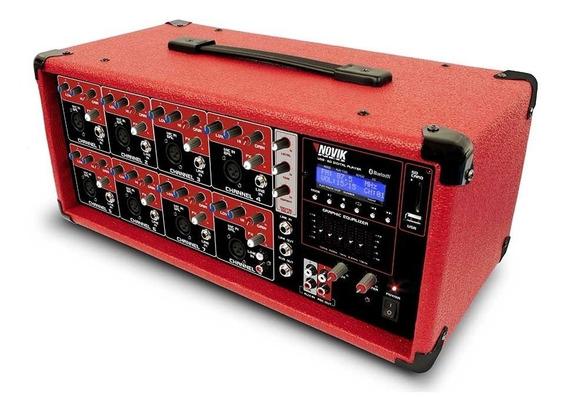 Mesa De Som Amplificada 8 Canais Novik Neo 250w Nvk 8500bt