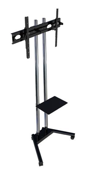 Pedestal Para Tv - Suporte Para Tv De Chão Com Roda