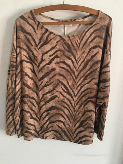 Remerón Animal Print Marca Brandel Tl