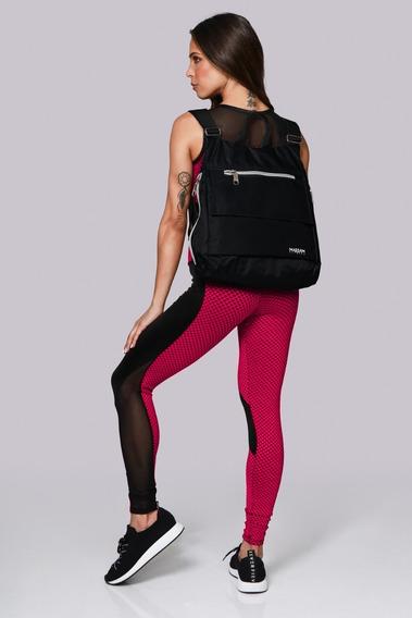 Mochila Fitness Nylon Feminina Soft Massam Preto 716