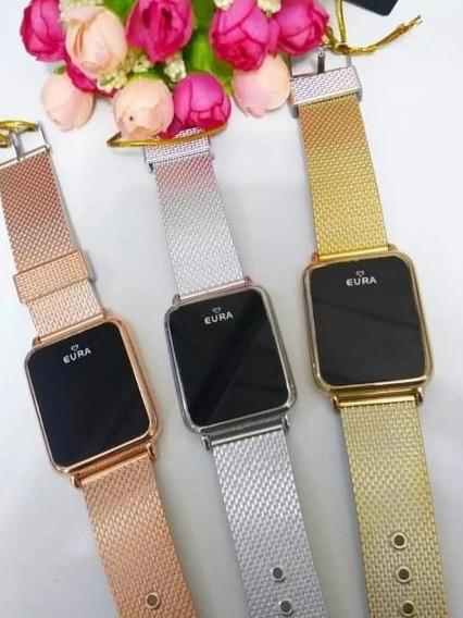 5 Relógios Unissex Originais Touch Screen C/caixa 5 Peças