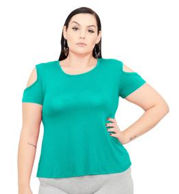 Kit 5 Roupa Feminina Blusa Bata De Malha Plus Size 56+