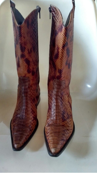 Bonitas Botas De Cana Snake Color Chocolate!