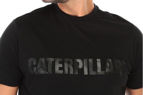 Playera Caterpillar Cat Negra Hombre Original Envío Gratis