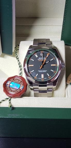 Rolex Milgauss Safira Verde Novo Aceito Troca