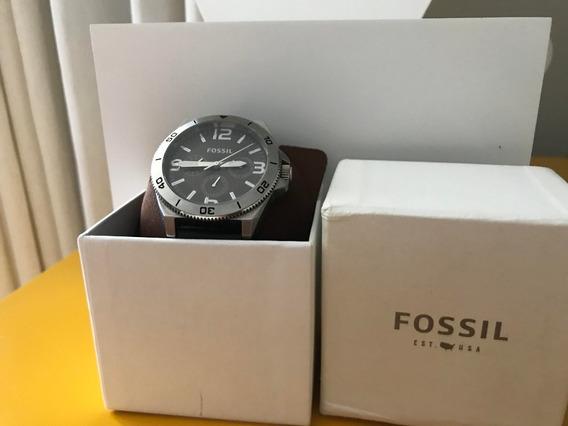 Relógio Fossil Bq2055 Couro Preto 22mm