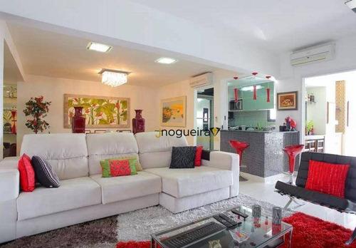 Apartamento, 130 M² - Venda Por R$ 1.800.000,00 Ou Aluguel Por R$ 11.300,00/mês - Brooklin Novo - São Paulo/sp - Ap14243