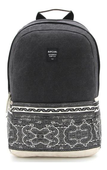 Mochila Rip Curl Wanderer Backpack Print Preta - Original