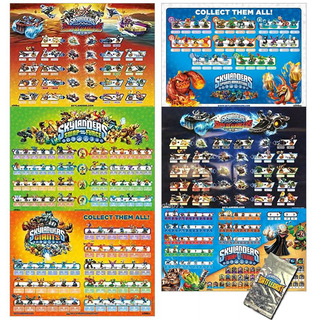 Skylanders Poster Value Pack Con 6 Pósters Y Bonus Incluy