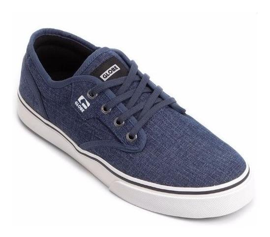 Tênis Globe Masculino Motley Azul Jeans Skate - Frete Grátis