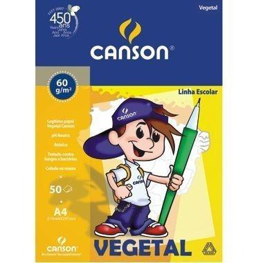 Papel Vegetal A3 297mm X 420mm 60g 150 Folhas Canson