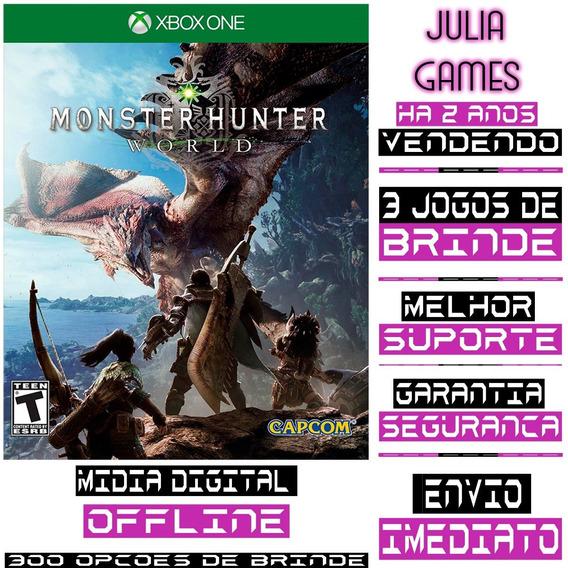 Monster Hunter World Xbox One Digital Offline + Brinde