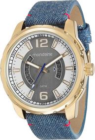 Relógio Masculino Mondaine Pulseira Jeans Analó 99090gpmvdh2