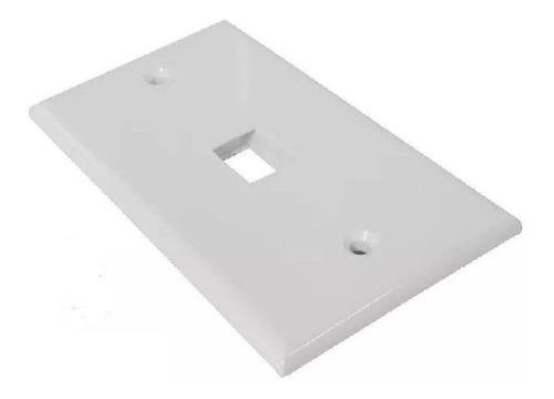 Imagen 1 de 1 de Tapa Face Plate 1 Puerto Jack Coupler Rj45 Hembra 4x2