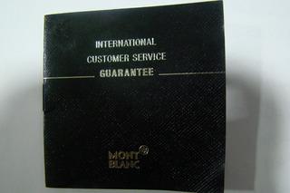 Mont Blanc Garantia Reloj