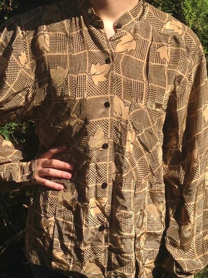 Camisa Blusa Estampada Mujer T. 44