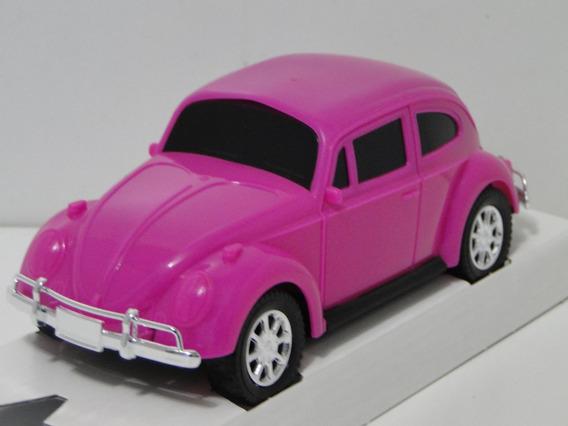 Miniatura Fusca Pink 1968 Cor De Rosa Carrinho Coleção Volks
