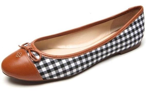 Sapato Feminino Sapatilha Linda Xadrez Capodarte Conforto