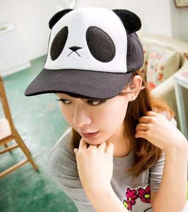 Gorra Panda Unisex Cute Kawaii Oso Sombrero Nuevo Japon