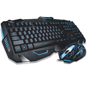 Kit Teclado Mouse Gamer Com Led Iluminado Multilazer Barato