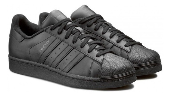 Tenis adidas Superstar Foundation Concha Negro/negro Af5666
