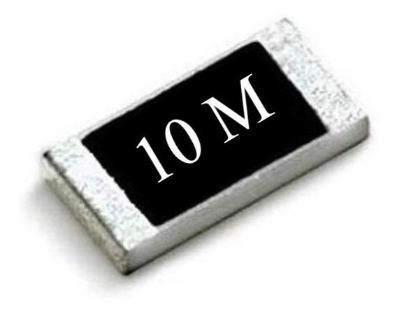Resistor Smd 0603 ( Kit C/ 25 ) 10 Mohms 5% Panasonic (1,6mm X 0,8mm) 1/10w