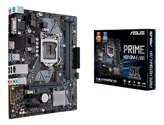 Asus Prime H310m-e/br Lga1151 Ddr4 8 Geração Nf #em Até 12 X