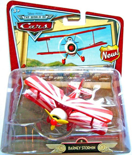 Disney Cars Avião Barney Stormin Asas De Metal Mattel