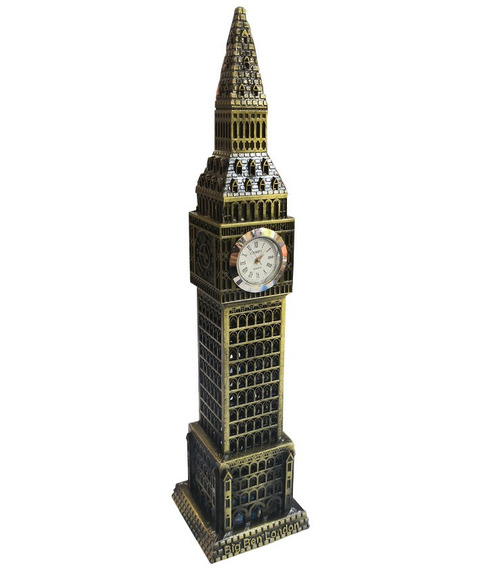 Torre Big Ben Con Reloj Funcionando Excelente Adorno Deco
