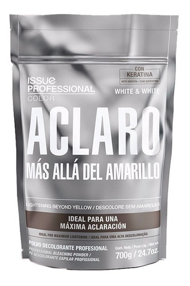 Polvo Decolorante Issue Aclaro White & White Keratina X700gr